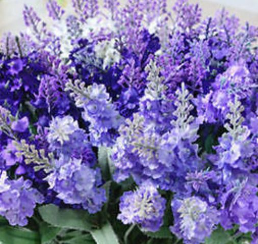 Artificial-Purple-Flower-10-font-b-Lavender-b-font-Silk-font-b-Wedding-b-font-font