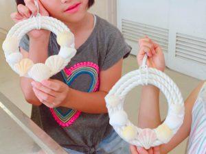 【キッズ講座】夏!マリンインテリア~貝殻を使ったロープリースづくり~